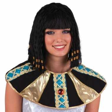 Goedkope  nacht damespruik Cleopatra zwart