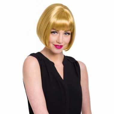 Goedkope  Natuurlijke damespruik blonde bob