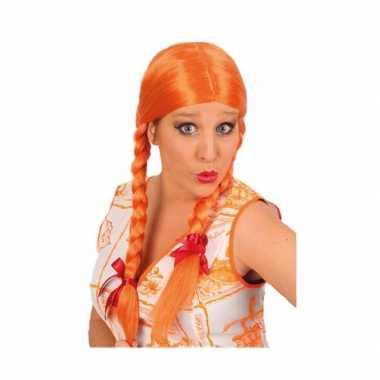 Goedkope  Oranje pruik vlechten