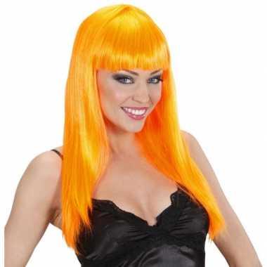 Goedkope  Party pruik oranje stijl haar
