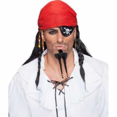 Goedkope  Piraten pruik bandana