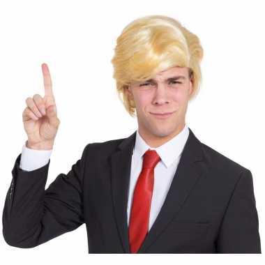 Goedkope president trump pruik blond
