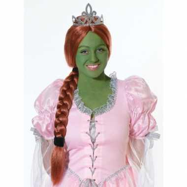 Goedkope  Prinsessen pruik rood haar