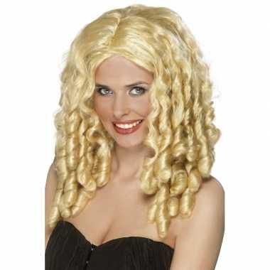 Goedkope  Pruik blonde pijpenkrullen