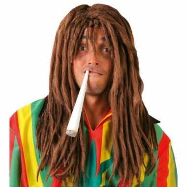 Goedkope reggae rasta verkleedpruik mannen