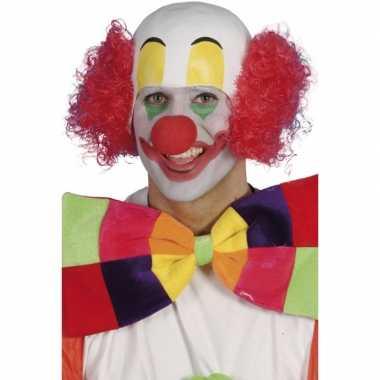 Goedkope  Rode clowns pruik
