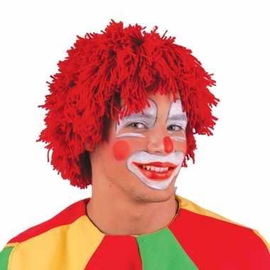 Goedkope  Rode pruik clowns
