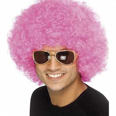 Goedkope roze seventies afropruiken