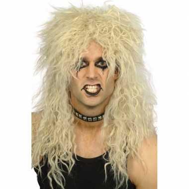 Goedkope  Ruige blonde rockers pruik