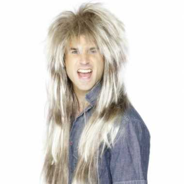 Goedkope  Ruige rockster pruik blond haar