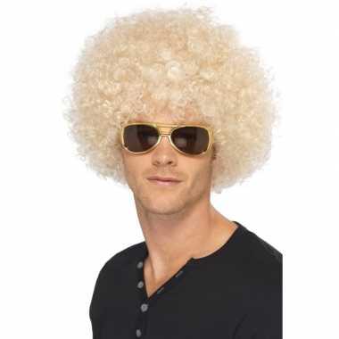 Goedkope s afropruik blond heren