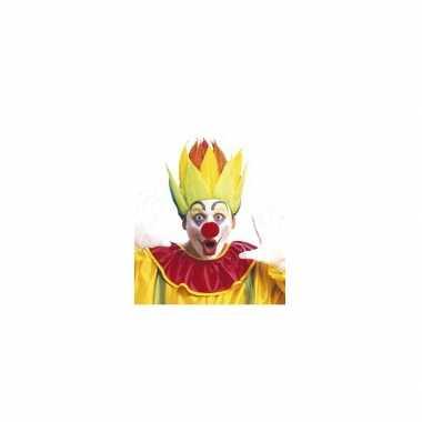 Goedkope  Shock clownspruik meerkleurig