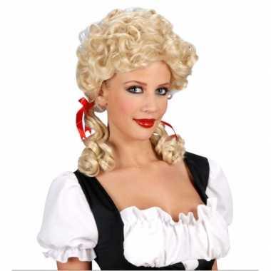 Goedkope  Staartjespruik boerin blond