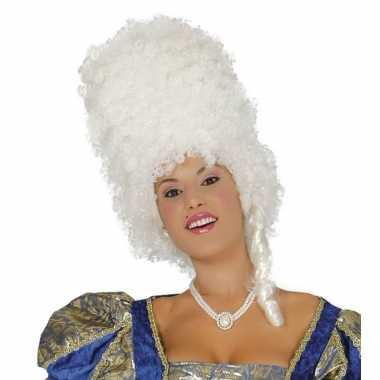 Goedkope suikerspinnen pruik wit dames