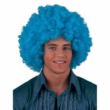 Goedkope  Turquoise pruik krulletjes