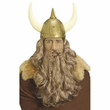 Goedkope  Viking pruik golvend haar