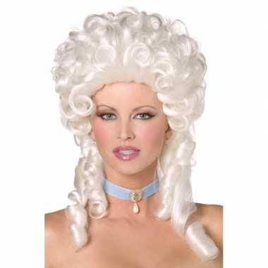 Goedkope  Witte koninginnen pruik