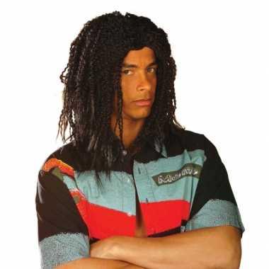 Goedkope  Zwarte Bob Marley pruik heren