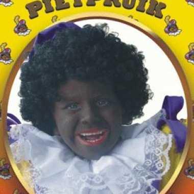 Goedkope  Zwarte Pieten pruik kinderen