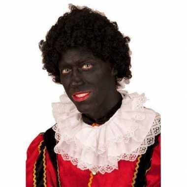 Goedkope  Zwarte Pieten pruik korte krullen