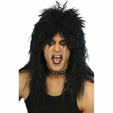 Goedkope  Zwarte pruik rockster