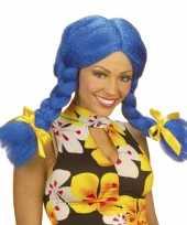 Goedkope blauwe dolly pruik dames