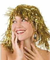 Goedkope gouden folie pruik