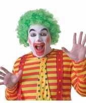 Goedkope groene clownspruik volwassenen