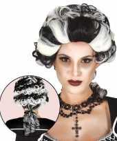 Goedkope halloween markies vampier dracula damespruik