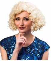 Goedkope jaren blonde dames pruik