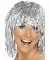 Goedkope korte zilveren pruik pony