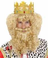 Goedkope luxe konings pruik carnaval