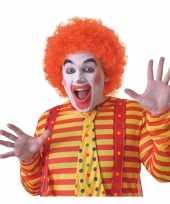 Goedkope oranje clownspruik volwassenen