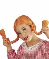 Goedkope oranje vlechtjes pruik