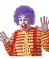Goedkope paarse clownspruik volwassenen