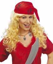 Goedkope piraten dames pruik bandana