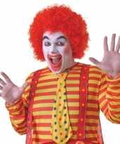 Goedkope rode clowns pruik volwassenen