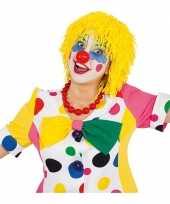Goedkope wollen clown pruiken geel
